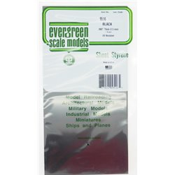 EVERGREEN EG9516 Plaque Noire - Sheets 1,5mm 1pc