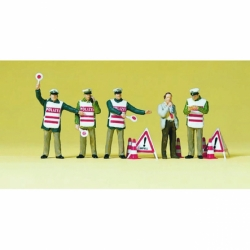 Preiser 10419 Figurines HO 1/87 Policiers avec gilet de signalisation