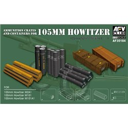 AFV Club AF35184 1/35 105mm M102 Ammo Crates&Acc.