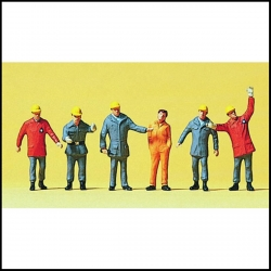 Preiser 10458 Figurines HO 1/87 Assistants THW. Vers 1990, RFA