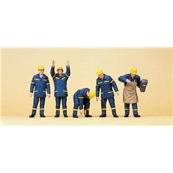 Preiser 10433 HO 1/87 Travailleurs - Workers THW