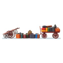 Preiser 17705 HO 1/87 2 Chariots à Bagages – Carts. Luggage