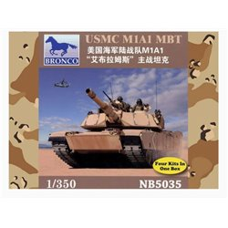 Bronco NB5035 1/350 USMC M1A1 Abrams MBT Contains 4 kits