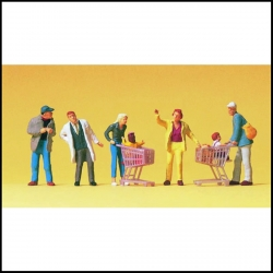 Preiser 10492 Figurines HO 1/87 En faisant les courses - Going shopping