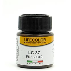 LifeColor LC37 Terre Ombre brûlée Mat – Matt Burnt Umber - 22ml