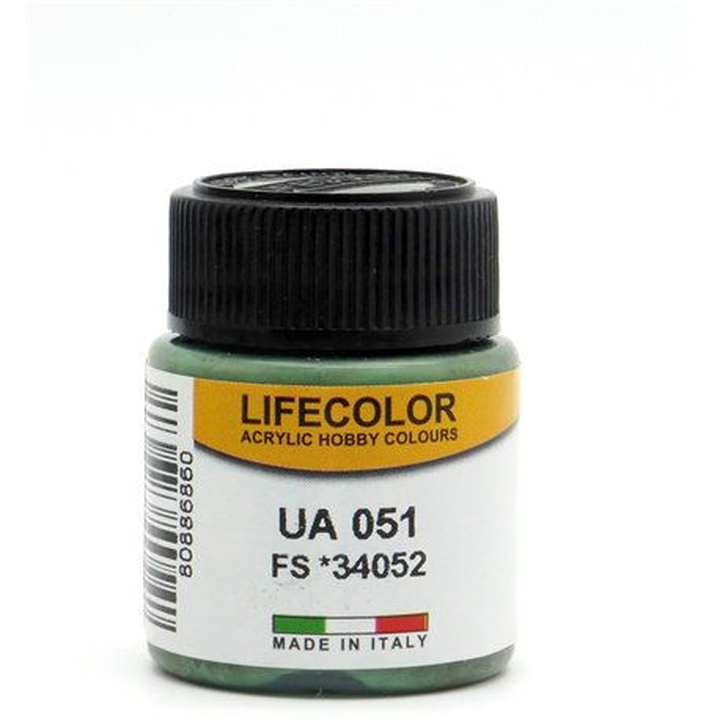 LifeColor UA051 Noir Vert – Black Green RLM70 FS34052 - 22ml