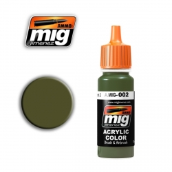 AMMO OF MIG A.MIG-002 Acrylic Color RAL 6003 OLIVGRÜN OPT.2 17ml