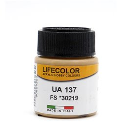 LifeColor UA137 Jaune Sable – Sand Yellow RLM79 FS30219 - 22ml