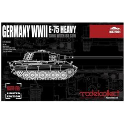 Modelcollect MA72001 1/72 Germany WWII E-75 Heavy Tank with 88 Gun