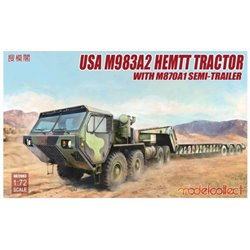 Modelcollect UA72083 1/72 USA M983A2 HEMTT Tractor with M870A1 Semi-Trailer