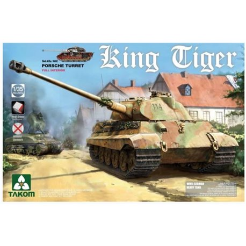 Takom 2074 1/35 King Tiger Sd.Kfz.182 Porsche Turret