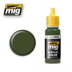 AMMO OF MIG A.MIG-019 Acrylic Color 4BO RUSSIAN GREEN 17ml