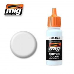 AMMO OF MIG A.MIG-024 Acrylic Color WASHABLE WHITE CAMO 17ml