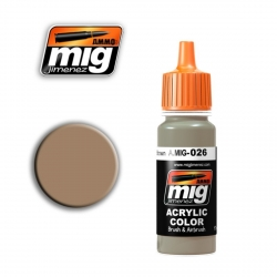AMMO OF MIG A.MIG-026 Acrylic Color RAL 8031 F9 GERMAN SAND BROWN 17ml