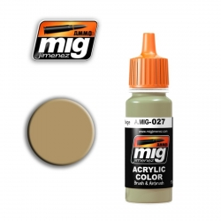 AMMO OF MIG A.MIG-027 Acrylic Color RAL8031 F9 GERMAN SAND BEIGE 17ml