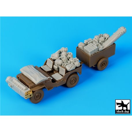 Black Dog T35110 1/35 British para Jeep before drop accessories set