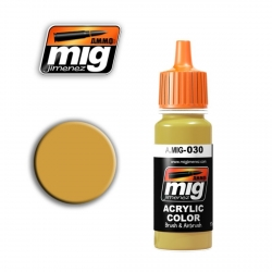 AMMO OF MIG A.MIG-030 Acrylic Color SAND YELLOW 17ml