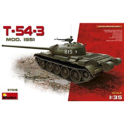 Miniart 37015 1/35 Soviet Medium Tank T-54-3. Mod. 1951 No Interior
