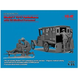 ICM 35662 1/35 Model T 1917 Ambulance with US Medical Personnel