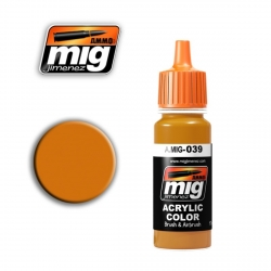 AMMO OF MIG A.MIG-039 Acrylic Color LIGHT RUST - Rouille Clair 17ml