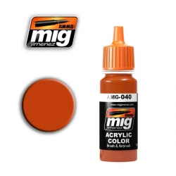 AMMO OF MIG A.MIG-040 Acrylic Color MEDIUM RUST - Rouille Moyen 17ml