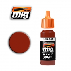 AMMO OF MIG A.MIG-041 Acrylic Color DARK RUST - Rouille Foncé 17ml