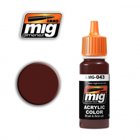 AMMO OF MIG A.MIG-043 Acrylic Color SHADOW RUST - Rouille Ombrée 17ml