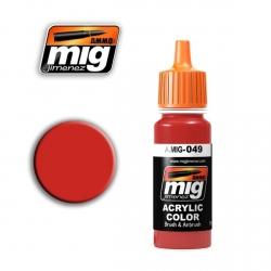 AMMO OF MIG A.MIG-049 Acrylic Color RED - Rouge 17ml