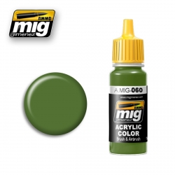 AMMO OF MIG A.MIG-060 Acrylic Color PALE GREEN - Vert Pale 17ml