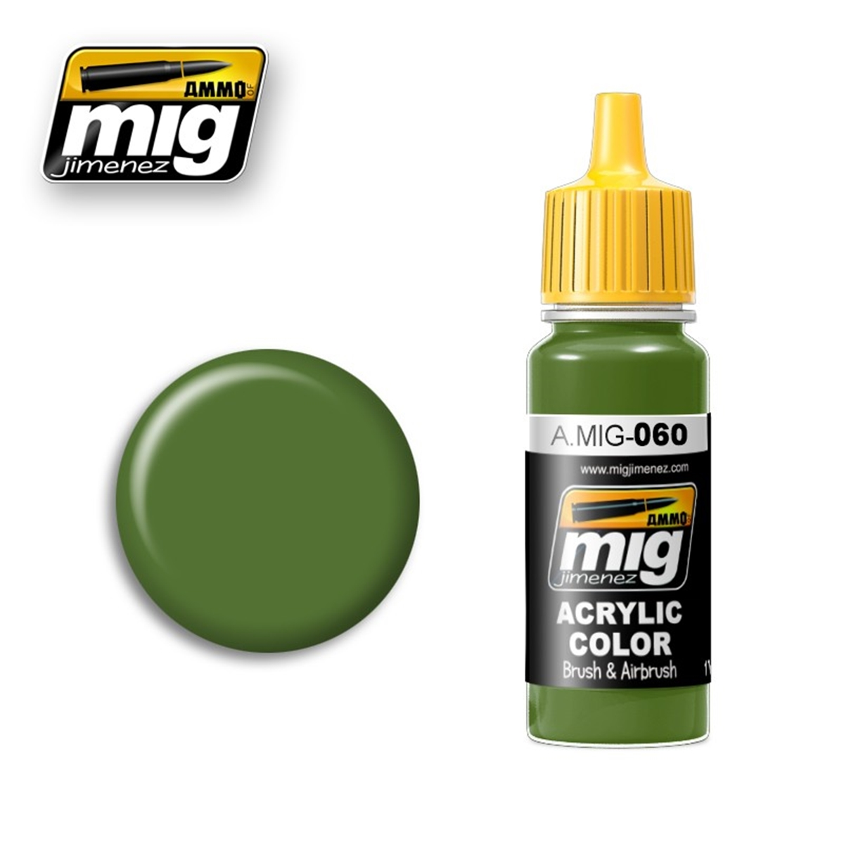 AMMO OF MIG A.MIG-0060 Acrylic Color Pale Green 17ml - Passion132