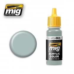 AMMO OF MIG A.MIG-063 Acrylic Color PALE GREY - Gris Pale 17ml