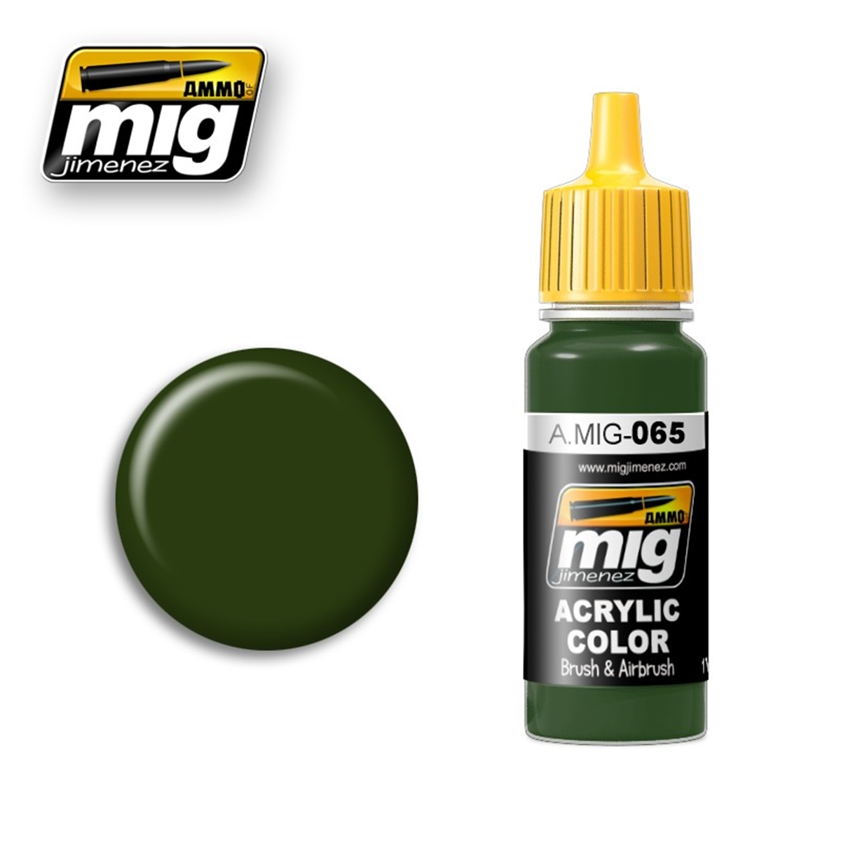 Ammo By Mig Amig 0065 Peinture Vert Forêt 17ml Passion 132