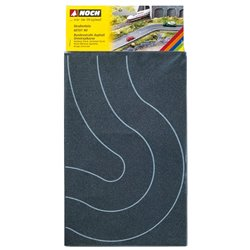 NOCH 60701 HO 1/87 Route Nation. Asphalte, Virage largeur 8cm 2pcs