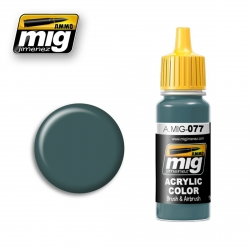 AMMO OF MIG A.MIG-077 Acrylic Color DULL GREEN - Vert Terne 17ml