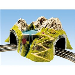 NOCH 05180 HO 1/87 Tunnel de Coin, 2 Voies, 43 x 41 cm