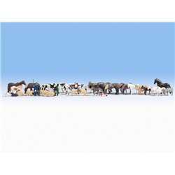 "NOCH 16049 HO 1/87 Mega Economy Set ""Animals"""