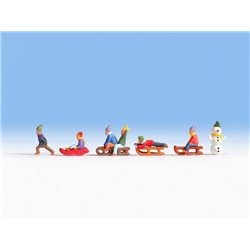 NOCH 15819 HO 1/87 Enfants à la neige