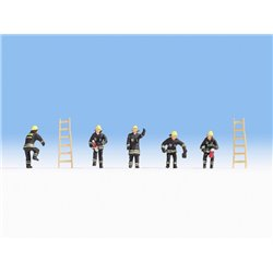 NOCH 15021 HO 1/87 Pompiers Uniforme Noir