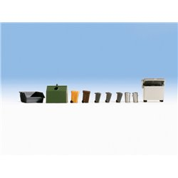 NOCH 14825 HO 1/87 Waste Containers & Ashcans