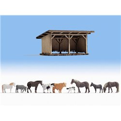 NOCH 12042 HO 1/87 Cattle Shelter