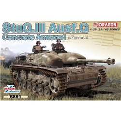 DRAGON 6891 1/35 Concrete Armored StuG.III Ausf.G w/Zimmerit