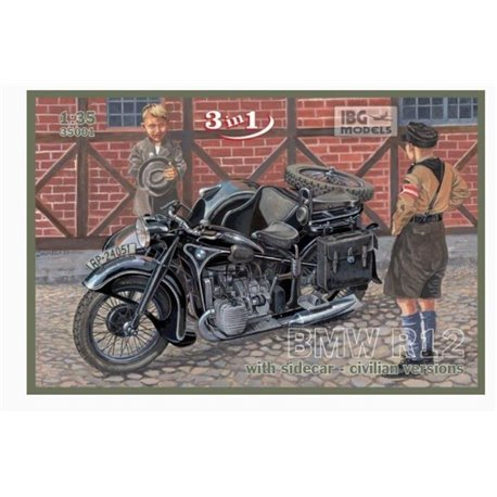 IBG Models 35001 1/35 BMW R12 with sidecar - civilian versions