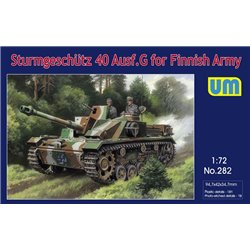 UNIMODELS 282 1/72 Sturmgeschutz 40 Ausf.G for Finnish Army