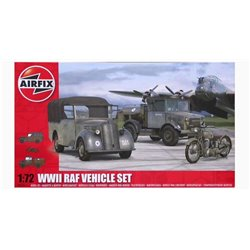 AIRFIX A03311 1/72 WWII RAF Vehicle Set Bedford, Tilly & BSA M20