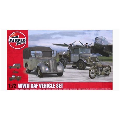 AIRFIX A03311 1/72 WWII RAF Vehicle Set Bedford MWC/D, Standard Tilly & BSA M20 Motorcycle