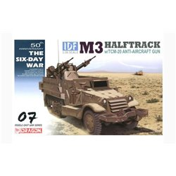 DRAGON 3586 1/35 IDF M3 Halftrack w/TCM-20 Anti-Aircraft Gun