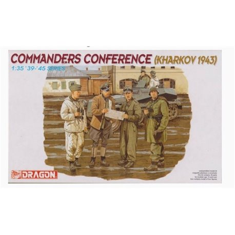 DRAGON 6144 1/35 Commanders Conference (Kharkov 1943)