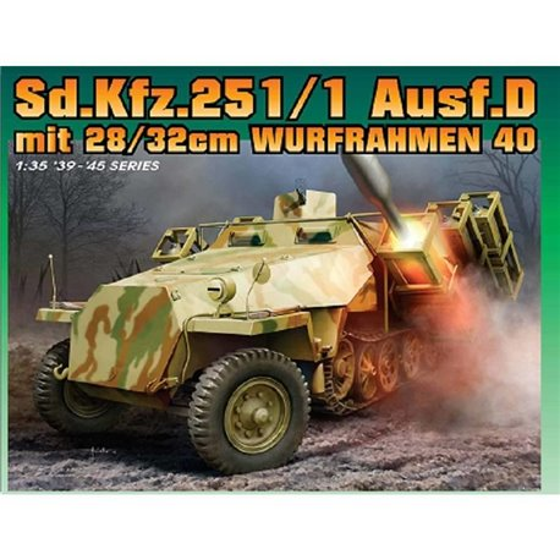DRAGON 6861 1/35 Sd.Kfz.251 Ausf.D with 28/32cm Wurfrahmen 40 (2 in 1)
