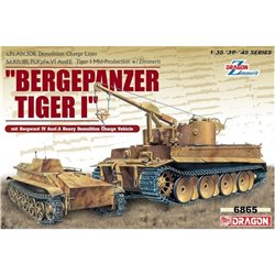 DRAGON 6865 1/35 Bergepanzer Tiger I Demolition Charge Layer mit Borgward IV Ausf