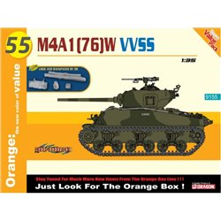 DRAGON 9155 1/35 M4A1 (76)W VVSS w/Logs and Backpacks